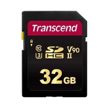 Карта памет 32GB SDHC, Transcend 700S, Class 10 UHS-II, скорост на четене 285 MB/s, скорост на запис 180 MB/s image
