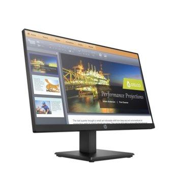 """Монитор HP P224 (5QG34AA), 21.5"""" (54.61 cm) VA панел, Full HD, 5ms, 10000000:1, 250 cd/m2, DP, HDMI, VGA image"""