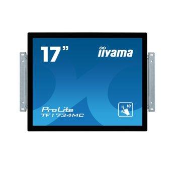 "Дисплей Iiyama TF1734MC-B6X, тъч панел, 17"" (43.18 cm), SXGA, HDMI, VGA, DisplayPort image"