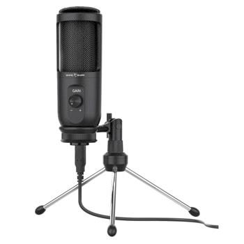 Микрофон SBOX WHITE SHARK TAUS (DSM-03), USB, настолен, черен image