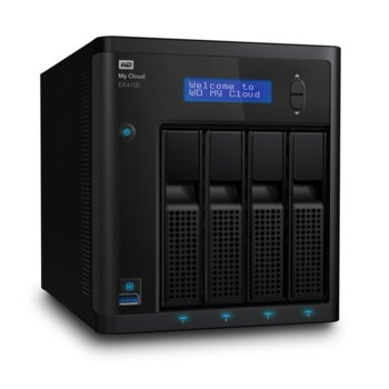 Мрежови диск (NAS) WD My Cloud EX4100, дву-ядрен Marvell ARMADA 388 1.6 GHz, без твърд диск (4x SATA), 2GB DDR3 RAM, USB 3.0, 2x Lan1000 image