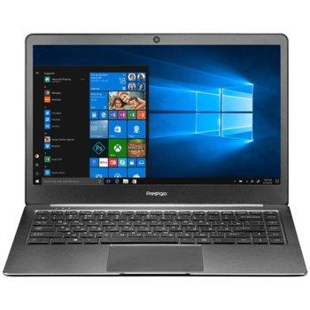 "Лаптоп Prestigio SmartBook 141S (PSB141S01CFHSSD_DG)(сив), двуядрен Apollo Lake Intel Celeron N3350 1.1/2.4 GHz, 14.1"" (35.81 cm) Full HD IPS Anti-Glare Display, (mHDMI), 4GB, 32GB eMMC + 120GB SSD M.2, 2x USB 3.0, Windows 10, 1.4 kg image"