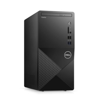Настолен компютър Dell Vostro 3888 MT (N601VD3888EMEA01_2101_M), четириядрен Comet Lake Intel Core i3-10100 3.6/4.3 GHz, 8GB DDR4, 1TB HDD, 4x USB 3.1, клавиатура и мишка, Windows 10 Pro image