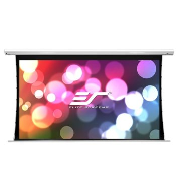"Екран Elite Screens Saker SK110XHW-E24, за стена, White, 2438 x 1372 мм, 110"" (279.4 cm), 16:9 image"