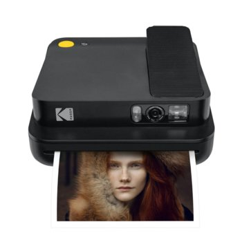 Мобилен принтер Kodak Smile Classic Black RODCLASBK, цветен термичен фотопринтер, micro SD слот, Bluetooth, черен image