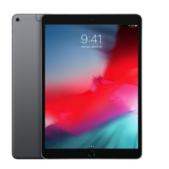 "Таблет Apple iPad Air 3 MV0N2HC/A 4G (тъмно сив), 10.5""(26.67 см) IPS LCD Display, шестядрен Vortex 2.5GHz, 3GB RAM, 256GB Flash памет, 8 & 7 Mpix camera, iOS, 464g image"