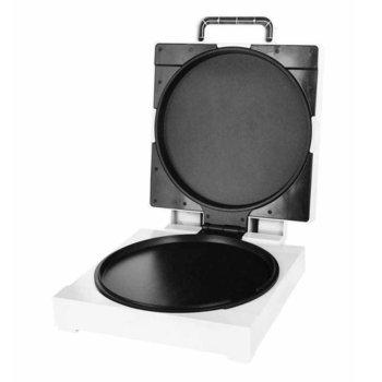 Уред за приготвяне на пица и омлети Royalty Line PZB-1200, 1200W, незалепващо покритие, горно и долно нагряване, бял image