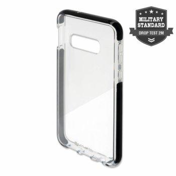 Калъф за Samsung Galaxy S10E, хибриден, 4Smarts Soft Cover Airy Shield 4S470006, удароустойчив, черен-прозрачен image