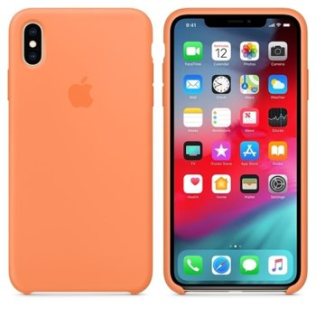 Apple iPhone XS Max Silicone Case - Papaya product