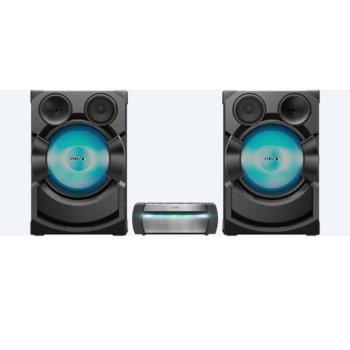 Аудио система Sony SHAKE-X70D, 2.1, HDMI, USB, CD, NFC, Bluetooth, DJ ефекти, парти светлини, черна image
