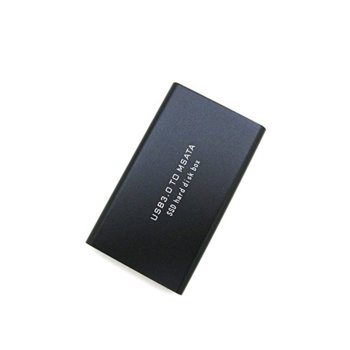 """Кутия 1.8"""" (4.57 cm) за SSD диск, USB 3.0 to mSATA, черна image"""