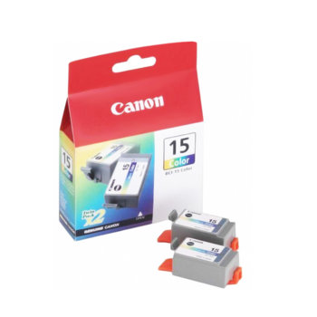 КОМПЛЕКТ ЗА CANON i70/i80 - Color twin pack - BCI-15 - P№BS8191A002AA - заб.:100 pages. image