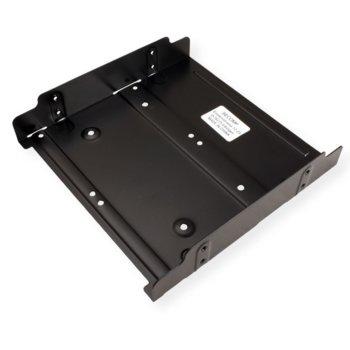 "Преходник (mounting bracket) Roline 16.01.3010, 5.25"" рамка за 1x 2.5/3.5"" за SSD/HDD, метален, черен image"