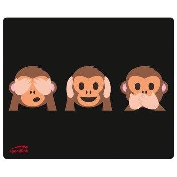 Подложка за мишка SpeedLink SL-620000-MONKEYS, различни цветове, 190 x 230 x 1.5 mm image