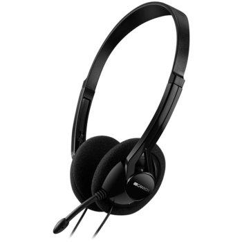 Слушалки Canyon CNE-CHS01B, микрофон, черни image