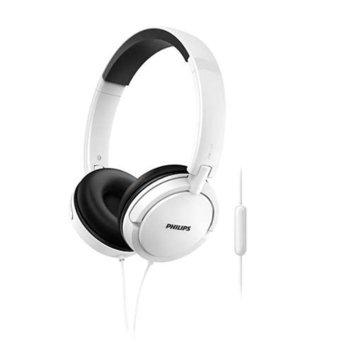 Слушалки Philips SHL5005WT, микрофон, сгъваеми, бели image