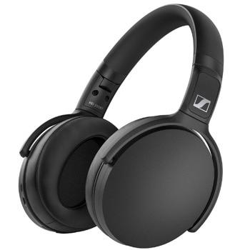 Слушалки Sennheiser HD 350BT (508384), безжични, микрофон, Bluetooth, до 30 часа време на работа, черни image