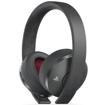 Слушалки Sony Gold Wireless Headset 2.0 - The Last of Us Part 2 Limited Edition, безжични, микрофон, 7.1 виртуален съраунд, черни image