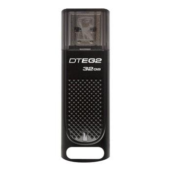 Памет 32GB USB Flash Drive, Kingston DataTraveler Elite G2, USB 3.1, черна image