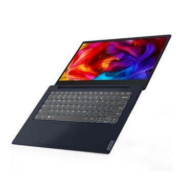 "Лаптоп Lenovo Ideapad S340-14API (81NB008ABM)(син), двуядрен Zen 2 AMD Ryzen 3 3200U 2.6/3.5 GHz, 14"" (35.56 cm) Full HD IPS Display, (HDMI), 8GB DDR4, 256GB SSD, 1x 3.1 USB-C, Free DOS, 1.69 kg  image"