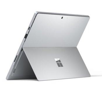"Лаптоп Microsoft Surface Pro 7 (PUW-00003)(сребрист), 12.3"" (31.24 cm) PixelSense дисплей, четириядрен Intel Core i5-1035G4 1.1/3.7 GHz, 16GB LPDDR4, 256 GB SSD (+ microSD слот), 8.0 & 5.0 Mpix камера, Windows 10 Home, 770 g, без клавиатура image"