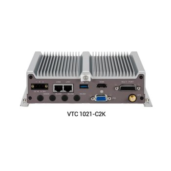 Индустриален компютър Nexcom VTC1021-C2K (10V00102102X0), четириядрен Intel Atom E3940 1.60/1.80 GHz, 4GB DDR3L, 64GB SSD, USB, Windows 10 image