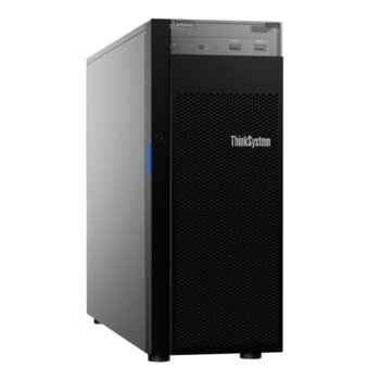 Сървър Lenovo ThinkSystem ST250 (7Y45A010EA), четириядрен Coffee Lake Intel Xeon E-2124 3.3/4.3 GHz, 16GB DDR4, без HDD, 2x 1Gbe LAN, 2x USB 3.1, без ОС, 1x 550W image