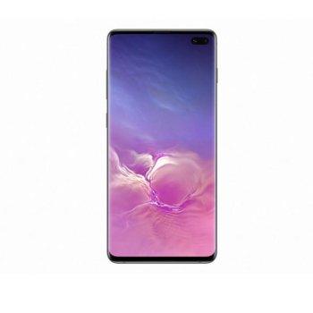 "Смартфон Samsung Galaxy S10+ (черен), поддържа 2 sim карти, 6.4"" (16.256 cm) Dynamic AMOLED дисплей, осемядрен Exynos 9820 Octa (2x 2.7GHz & 2x 2.3GHz & 4x 1.9GHz), 8GB RAM, 128GB Flash (+microSD), 12.0 + 16.0 + 12.0 & 10.0 + 8.0 Mpix camera, Android image"