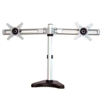 """Стойка за монитор Dahua BL102, за маса, за екрани от 10"""" (25.4 cm) до 24"""" (60.96 cm), VESA до 100x100, 2x рамена, макс. тегло до 8 кг., регулируема, сребриста image"""