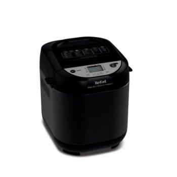 Хлебопекарна Tefal Pain ET Tresors Maison PF251835, 22 автоматични програми, вмecтимocт 1000 г., LCD дисплей, отложен старт, черна image