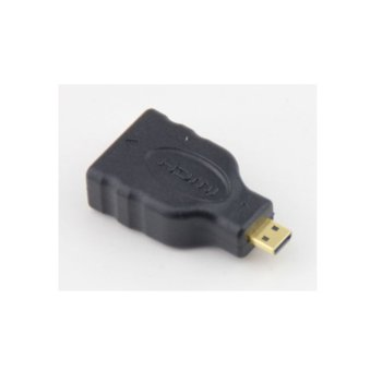 Преходник Vcom CA325, от HDMI(ж) към microHDMI(Type D)(м), екраниран, позлатени конектори, черен image