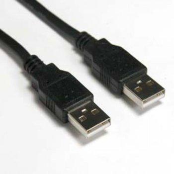 Кабел DeTech, USB А(м) към USB А(м), 1.5m, черен image