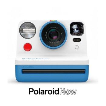 Фотоапарат Polaroid Now (син), моментални снимки, светкавица, с батерия, auto-focus, USB image