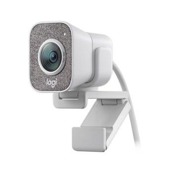 Уеб камера Logitech StreamCam, Full HD (1080p&60fps), 3.7 mm обектив, микрофон, за стрийминг, Autofocus, USB 3.1 Gen 1 Type-C, бяла image