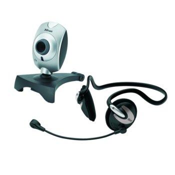 Уеб камера и слушалки Trust Primo ChatPack, VGA резолюция, микрофон, сребристи image