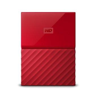 """Твърд диск 1TB WD My Passport (червен), Външен, 2.5""""(6.35cm), USB 3.0 image"""