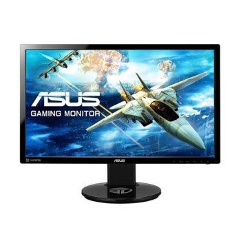 """Монитор Asus VG248QE, 24"""" (60.96 cm), TN панел, Full HD, 1ms, 80 000 000:1, 350 cd/m2, DisplayPort, HDMI, DVI image"""