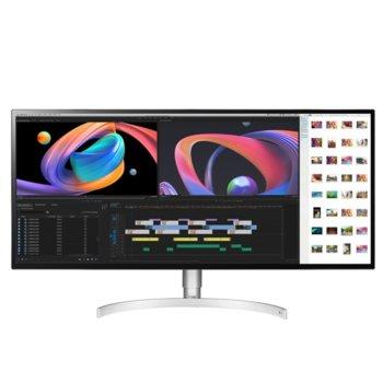 """Монитор LG 34WK95U-W, 34"""" (86.36 cm) IPS панел, 5K2K, 5ms, 5 000 000:1, 450cd/m2, Display Port, HDMI, 2 USB, Thunderbolt 3 image"""