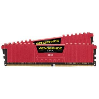 Памет 16GB (2x 8GB) DDR4 2400MHz, Corsair Vengeance LPX CMK16GX4M2A2400C16R, 1.2V image