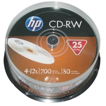 Оптичен носител CD-RW, 700MB, HP, 12x, 25 бр. image