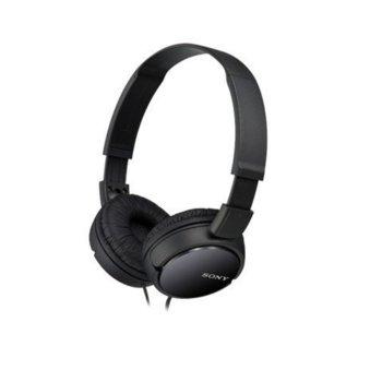 Слушалки Sony MDR ZX110APB, микрофон, черни image