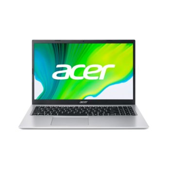 "Лаптоп Acer Aspire 3 A315-35 (NX.A6LEX.00D)(сребрист), четириядрен Jasper Lake Intel Pentium N6000 1.1/3.3 GHz, 15.6"" (39.62 cm) Full HD Anti-Glare Display, (HDMI), 4GB DDR4, 1TB HDD, 2x USB 3.0, No OS image"