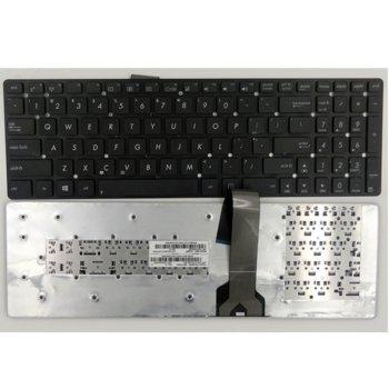 Клавиатура за лаптоп Asus, съвместима със серия X502 Black No Fame US (Малък Enter) с Кирилица image