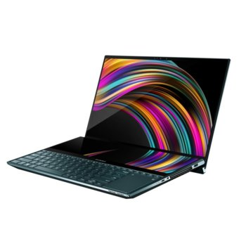 "Лаптоп Asus ZenBook Pro Duo UX581GV-H2002R (90NB0NG1-M01450)(син), шестядрен Coffee Lake Intel Core i7-9750H 2.60 GHz/4.50 GHz, 15.6"" (39.62 cm) Ultra HD OLED Touchscreen Display & GF RTX 2060 6GB, 16GB DDR4, 1TB SSD, Thunderbolt 3, Windows 10 Pro image"