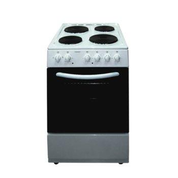 Готварска печка Crown 54AM A CLASS MULTIFUNCTIONAL, 4 нагревателни зони, 48 л. вместимост на фурната, 6 функции на фурната, бяла image
