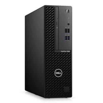 Настолен компютър Dell Optiplex 3080 SFF (N208O3080SFFAC_UBU), четириядрен Comet Lake Intel Core i5-10505 3.7/4.6 GHz, 8GB DDR4, 256GB SSD, 4x USB 3.2, Linux image
