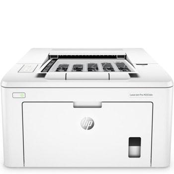 Лазерен принтер HP LaserJet Pro M203dn, монохромен, 1200 x 1200 dpi, 28 стр/мин, USB 2.0, 1x Gigabit Ethernet (10/100), A4  image
