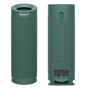 Тонколона Sony SRS-XB23, 2.0, Bluetooth 5.0, 12 часа време за работа, USB-Type-C, IP67 рейтинг, зелена  image