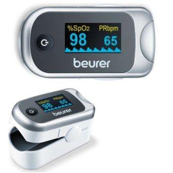 Пулсов оксиметър Beurer PO 40, автоматично изключване, цветен дисплей , сребрист/сив image