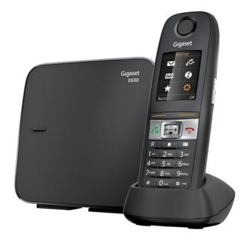 """Безжичен телефон Gigaset Е 630, 1.8"""" (4.57 cm) TFT цветен дисплей, черен image"""